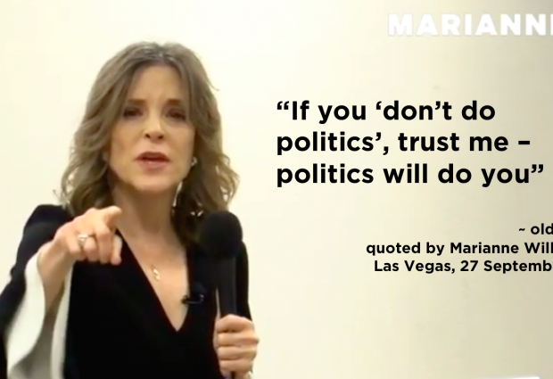 Marianne Williamson's campaign to transform politics continues to deepen